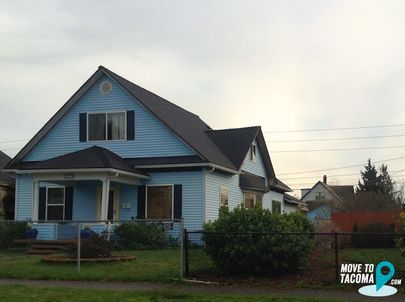 Blue house in Tacoma wa