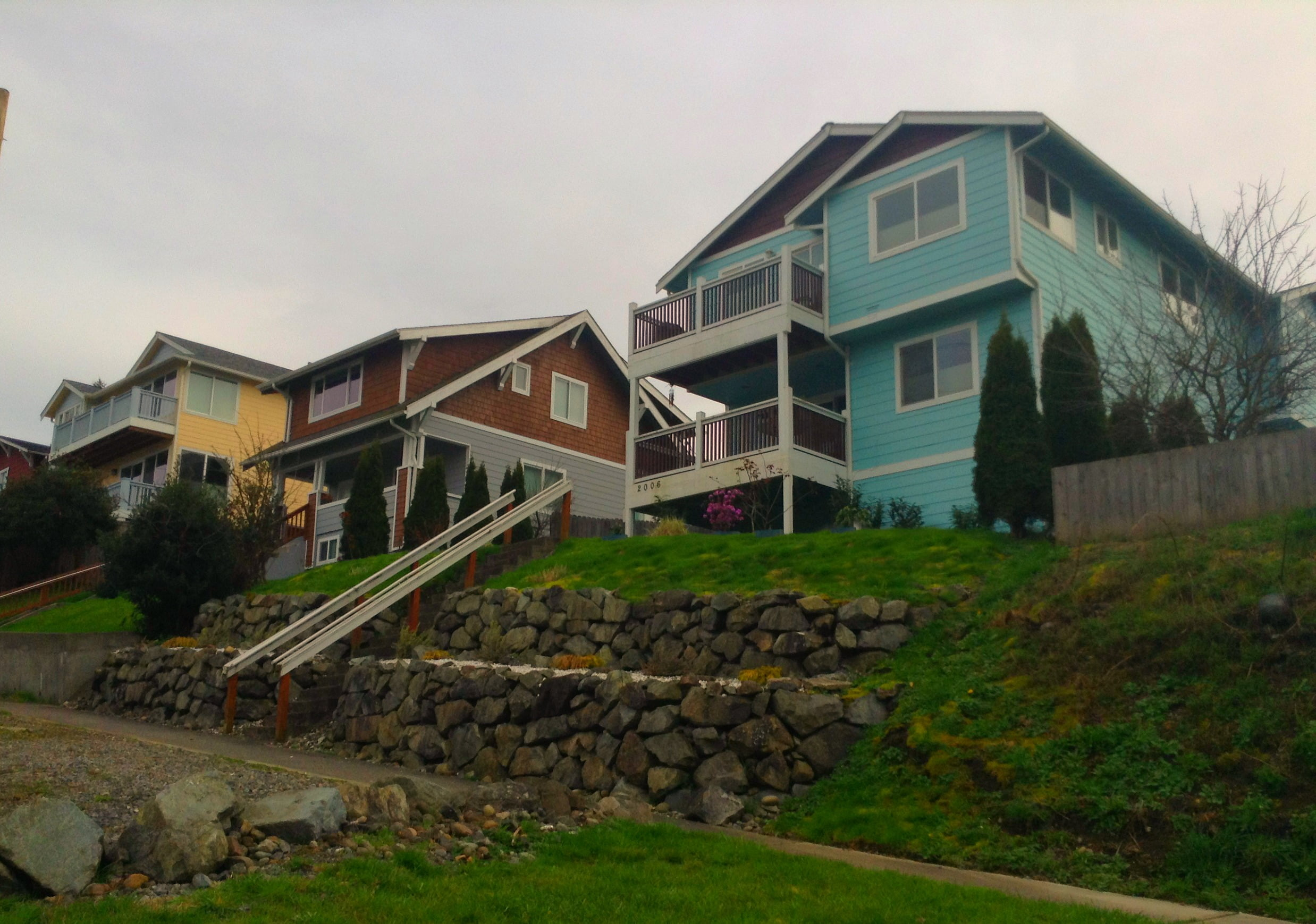 Houses on a hillside in Tacoma's Eastside neighborhood