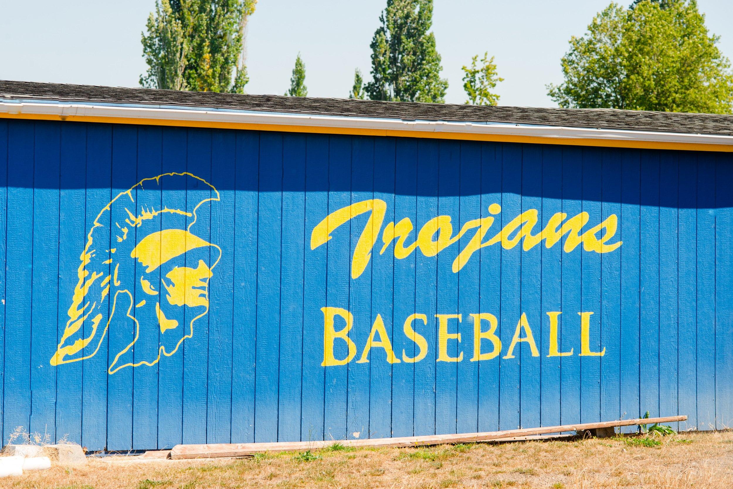 Trojans Baseball mural fife wa