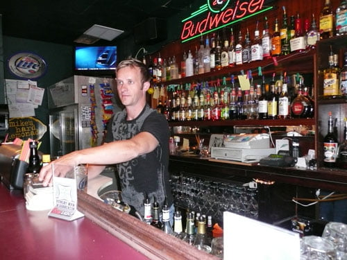 Brock Leach working the bar at The Mix Tacoma