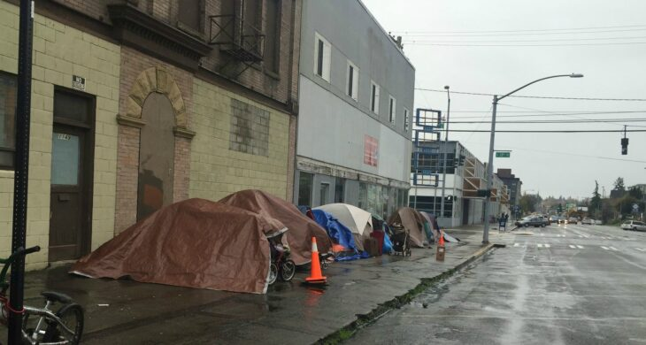 people experiencing homelessness in tacoma