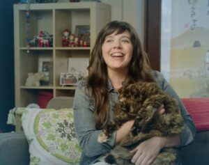 marguerite martin and her cat mathilde in 2016