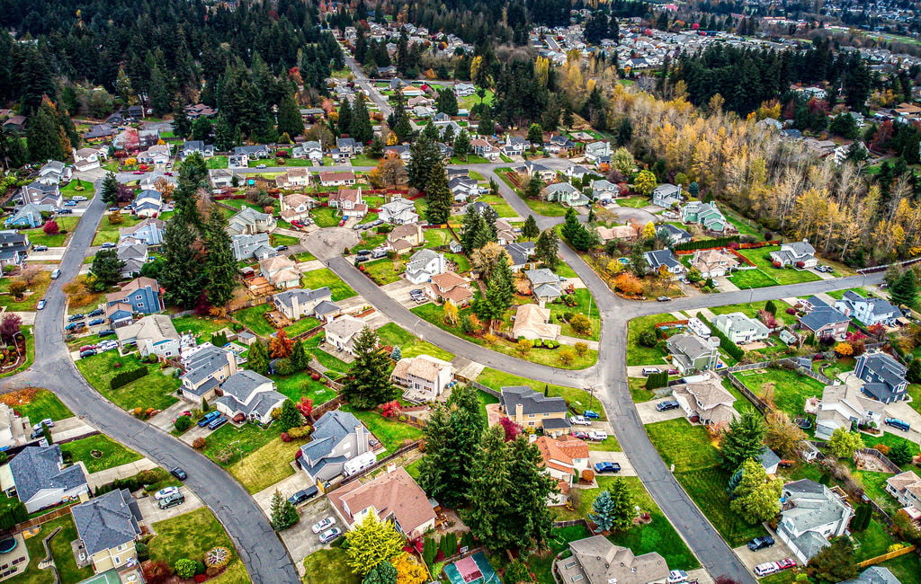 pierce county neighborhood from above